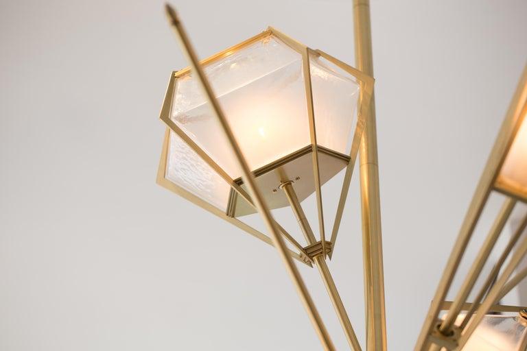 Modern Harlow Large Chandelier (Satin Brass) by Gabriel Scott For Sale