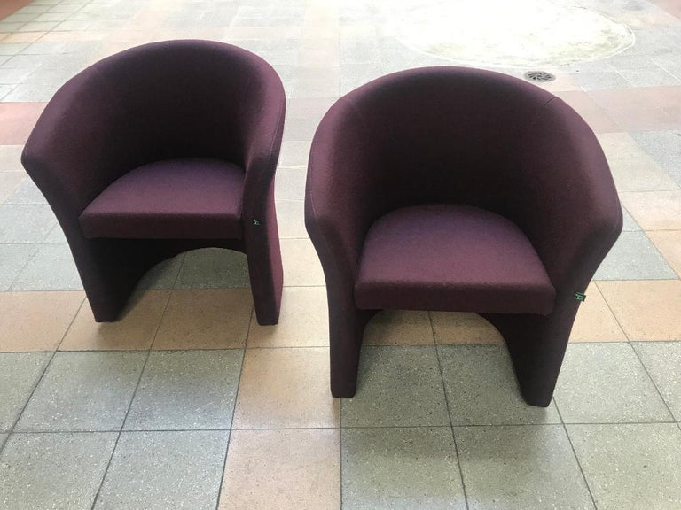 Harmonie pair of armchairs jersey/foam/metal really elegant and comfortable really good condition.