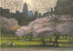 Blossoms and Buildings.  [Central Park.]