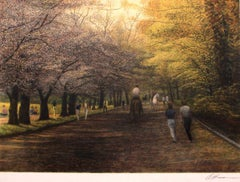 Central Park Horse Path I-Limited Edition Etching, EA, Signed by Artist