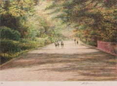 Horse Path-Limited Edition Etching, EA, Signed by Artist