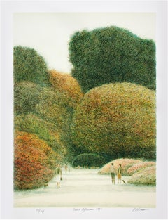 """Quiet Afternoon,"" Original Color Lithograph signed by Harold Altman"