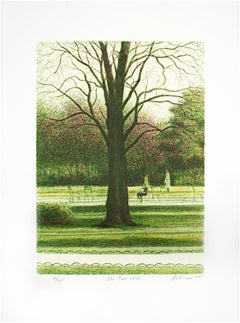 """The Tree,"" Original Color Lithograph signed by Harold Altman"