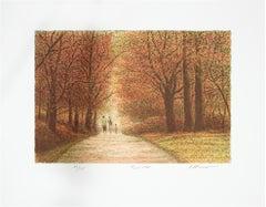 """Trio,"" Original Color Lithograph signed by Harold Altman"