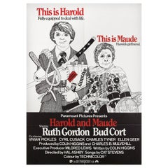'Harold and Maude' 1971 German A1 Film Poster