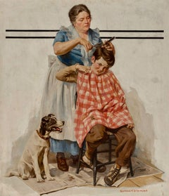 Haircut, Saturday Evening Post Cover, 1933