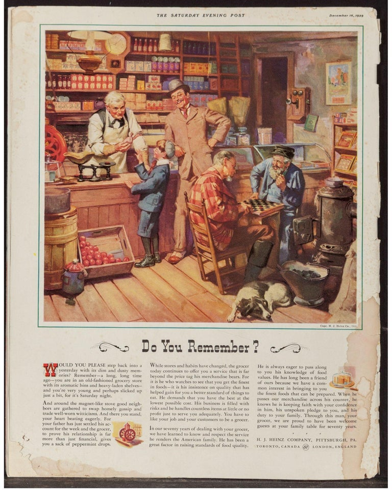 H.J. Heinz Company Advertisement, Dec. 16, 1939 - Brown Figurative Painting by Harold Anderson