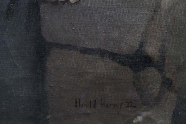 Clara - British Art Deco 20's female portrait landscape Newlyn oil painting  For Sale 2
