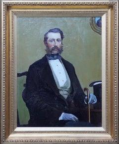 Francis Elliot Voyle - British 1916 portrait oil painting Newlyn School artist