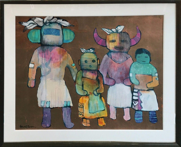HOPE INDIANS - Painting by Harold Larsen