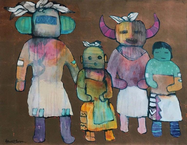 Harold Larsen Figurative Painting - HOPE INDIANS