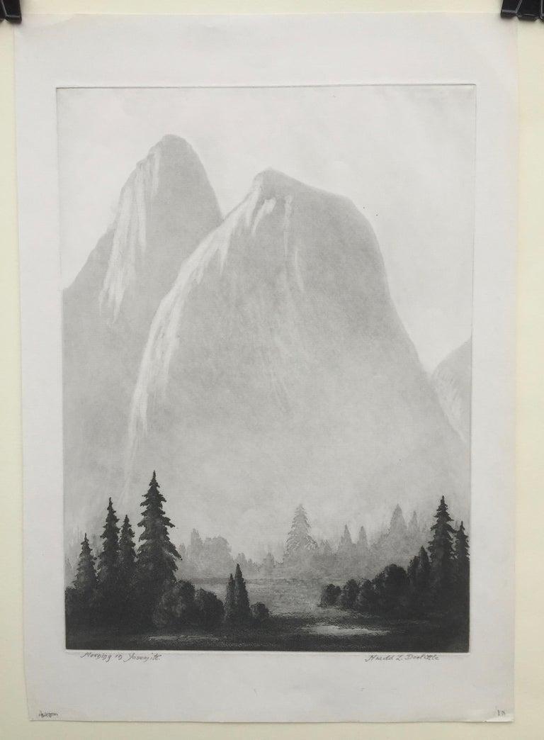MORNING IN YOSEMITE  - Print by Harold Lukens Doolittle