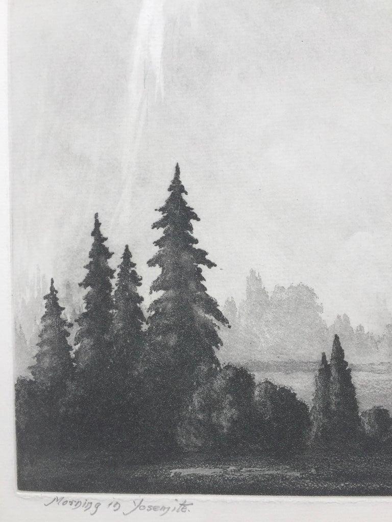 MORNING IN YOSEMITE  - Gray Landscape Print by Harold Lukens Doolittle
