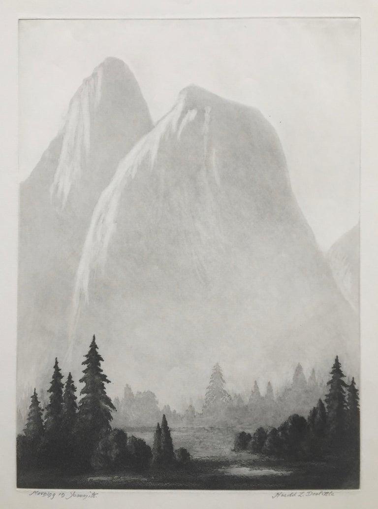 Harold Lukens Doolittle Landscape Print - MORNING IN YOSEMITE