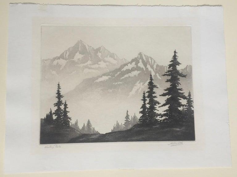 WESTERN PEAKS - Print by Harold Lukens Doolittle