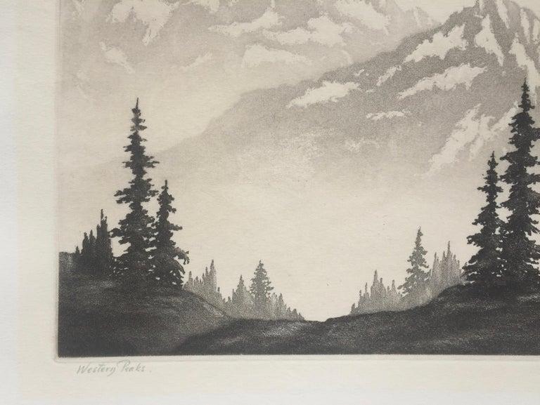 WESTERN PEAKS - Realist Print by Harold Lukens Doolittle