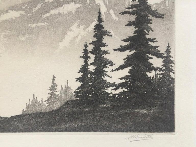 WESTERN PEAKS - Beige Landscape Print by Harold Lukens Doolittle