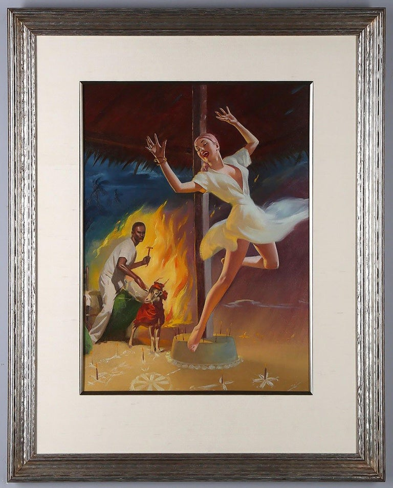 The Gods of Voodoo - Brown Figurative Painting by Harold McCauley