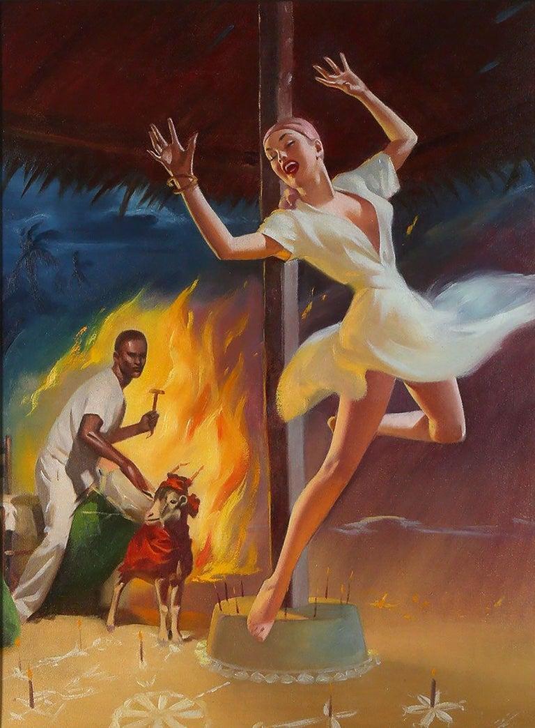 Harold McCauley Figurative Painting - The Gods of Voodoo