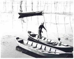 Fisherman with Child by Miller Null - Original Photograph - 1950s