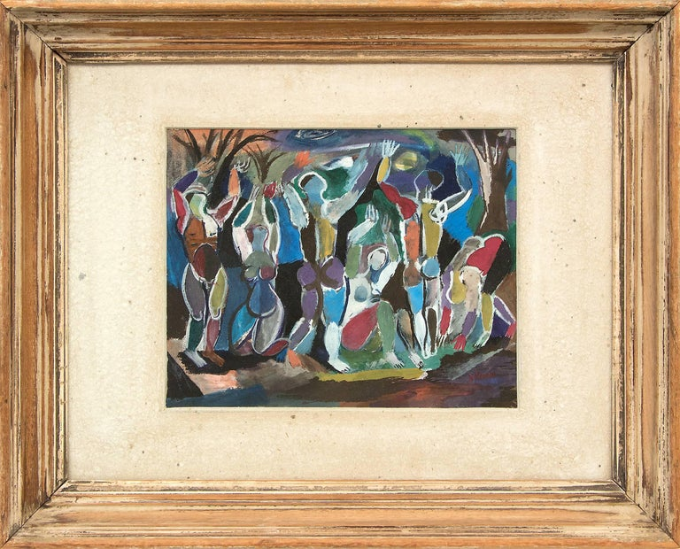 Untitled (Abstract Figures with Trees)