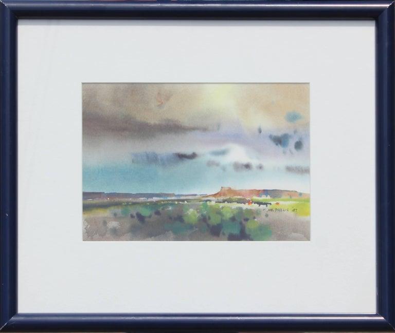"Harold Phenix Landscape Painting - ""South of Santa Fe"" Watercolor Desert Landscape"