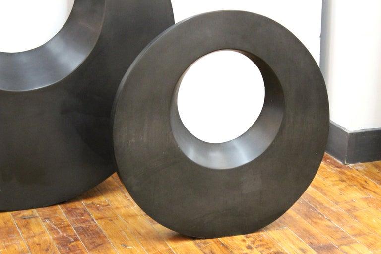 Masatoyo Kishi 'Kuki' Modern Cast Stone Disc Sculptures 1