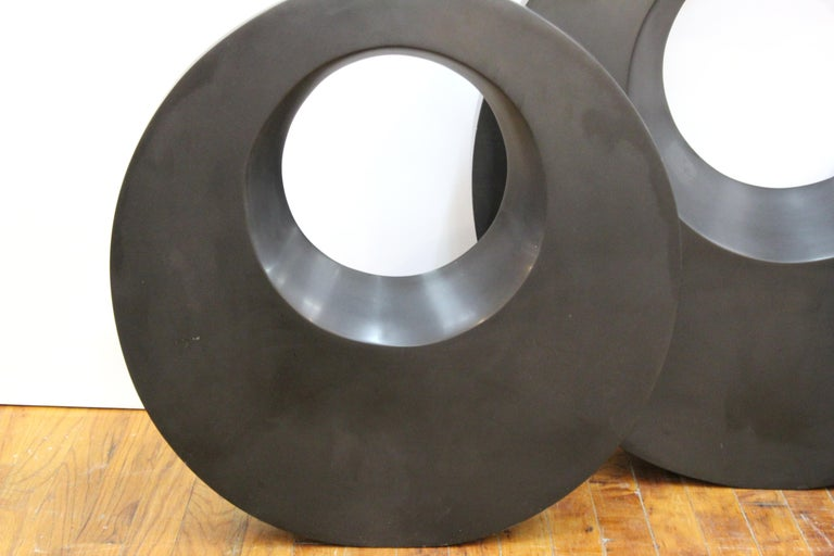 Masatoyo Kishi 'Kuki' Modern Cast Stone Disc Sculptures 2