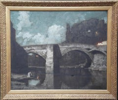 Alacantara Bridge of Toledo 1894 - British Victorian art landscape oil painting