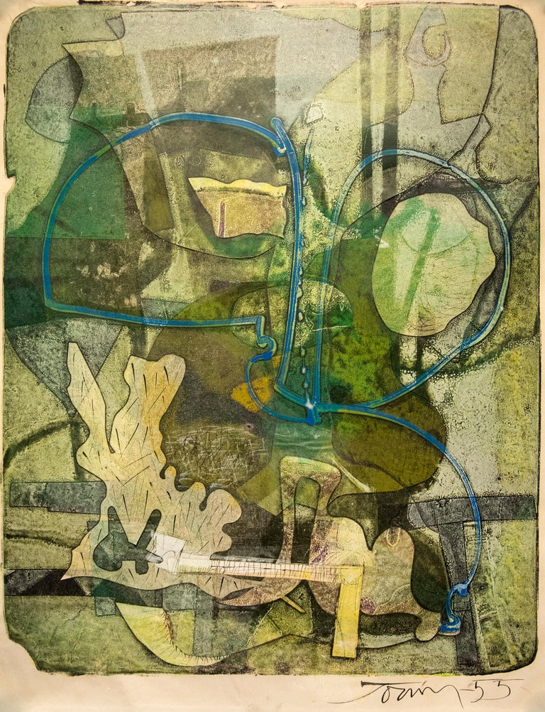 Harold Town Abstract Print - Sea Gardens