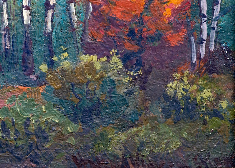 Blanca (Colorado Mountain Landscape Painting - Snow, Creek and Autumn Coloring) For Sale 4