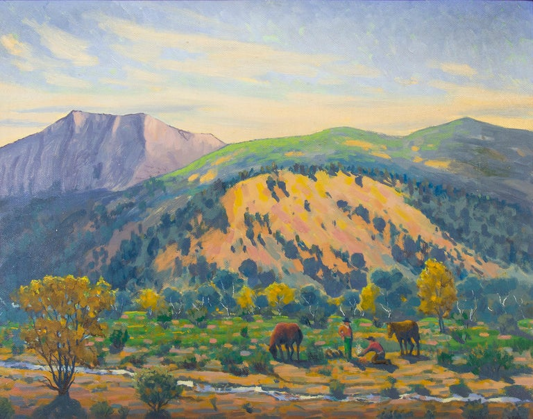 Creekside Camp (Southern Colorado Mountain Landscape) - Painting by Harold Vincent Skene