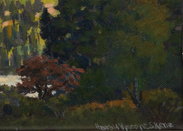 Lizard Head, Near Telluride, Colorado, Vintage Mountain Landscape, Lake & Trees - American Impressionist Painting by Harold Vincent Skene