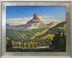 Lizard Head, Near Telluride, Colorado, Vintage Mountain Landscape, Lake & Trees