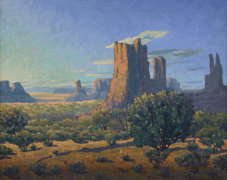 Monuments: Sunrise - Painting by Harold Vincent Skene