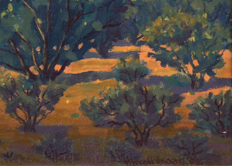 Monuments: Sunrise - American Impressionist Painting by Harold Vincent Skene