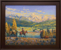 The Return (Horse and Rider in a Western Mountain Landscape, Autumn)