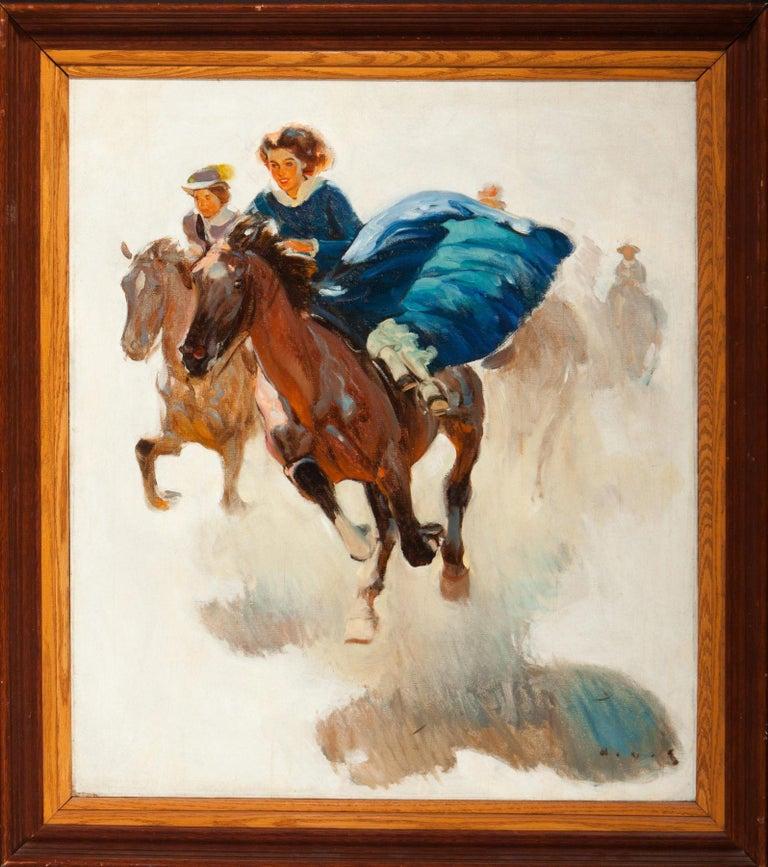 The Race - Painting by Harold von Schmidt