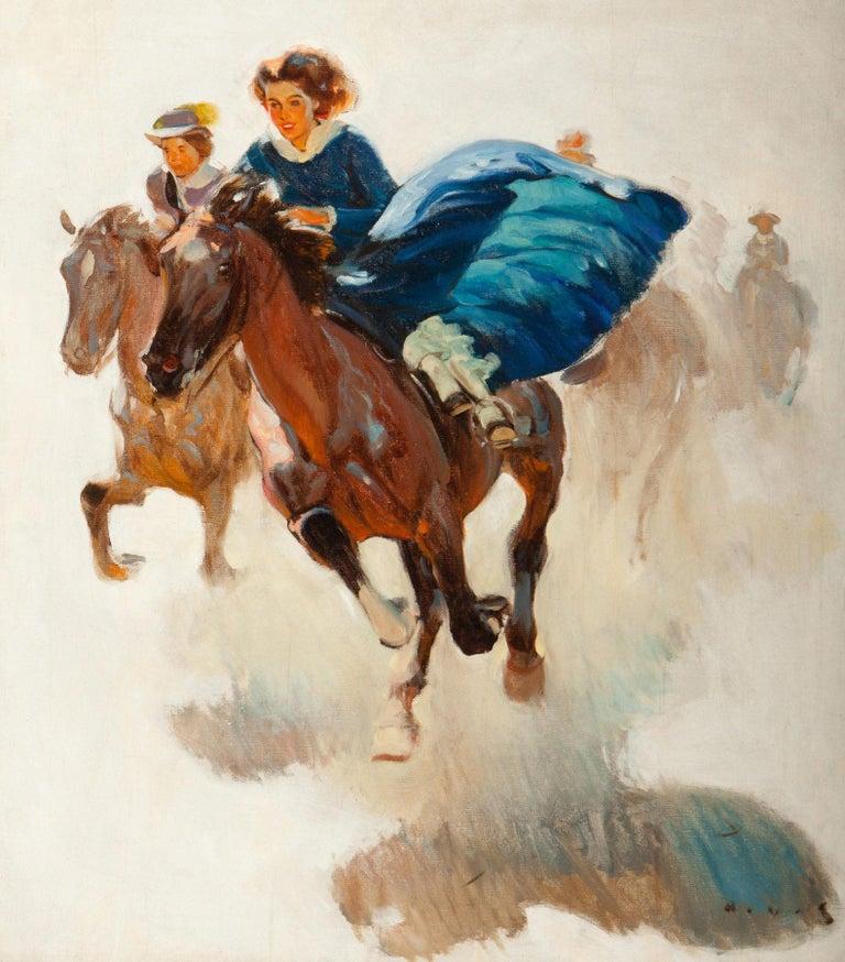 Harold von Schmidt Figurative Painting - The Race
