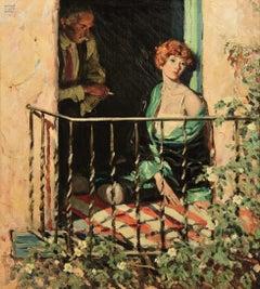 Woman seated on Balcony