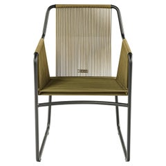 Harp Chair in Olive Green by Rodolfo Dordoni