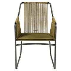 Harp Chair in Olive Green by Rodolfo Dordoni