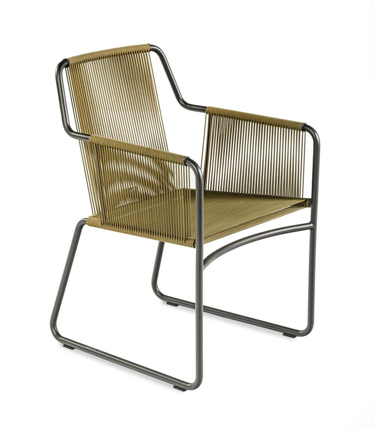 Modern Harp Chair in Olive Green by Rodolfo Dordoni For Sale