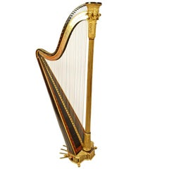 Harp Signed by Sébastien Érard's Patent Harp N. 881 N. 18, 1808-1809