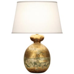 Harper Table Lamp in Gold Ceramic by CuratedKravet