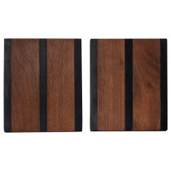 Harpswell House Slate and Walnut Bookends