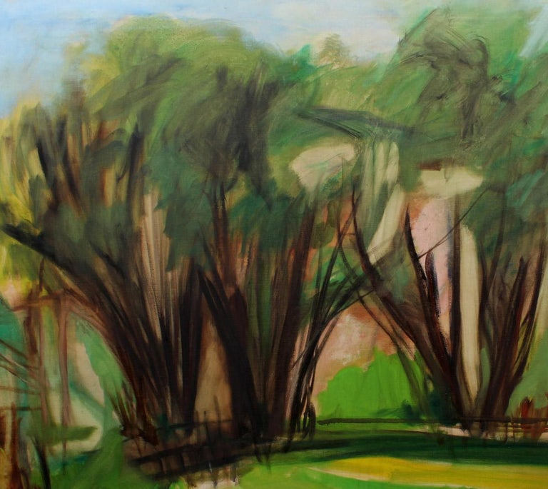 An original oil on canvas painting by American female artist Harriet Holden Nash.  Harriet was born and raised in Brooklyn, New York, and lived with her husband in Park Slope for over 35 years.  She attended the Brooklyn Museum School at age 14