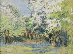 Spring Forest, landscape by Harriette Bowdoin (1880-1947, American)
