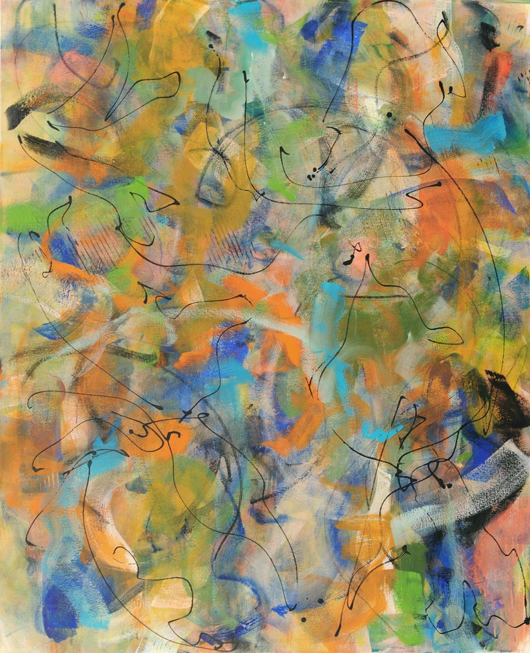 Harriette Joffe Abstract Painting - Let's Dance with Getz and Gilberto