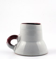 Cup, untitled red and white